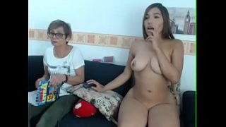 A GRANDMOTHER HELPS HER SUPER SEXY GRANDDAUGHTER TO HAVE A NAKED SEX CAM SESSION AND THEY WILL NOT BE ABLE TO BELIEVE WHAT IT DOES TO HER